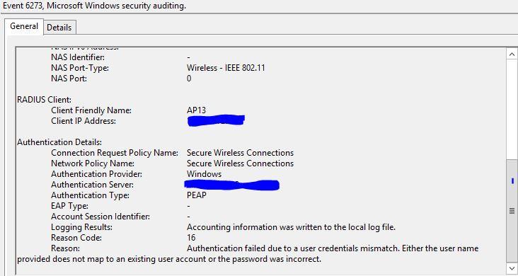 Windows NAP as RADIUS in a Windows 7 Server 2012 Wireless